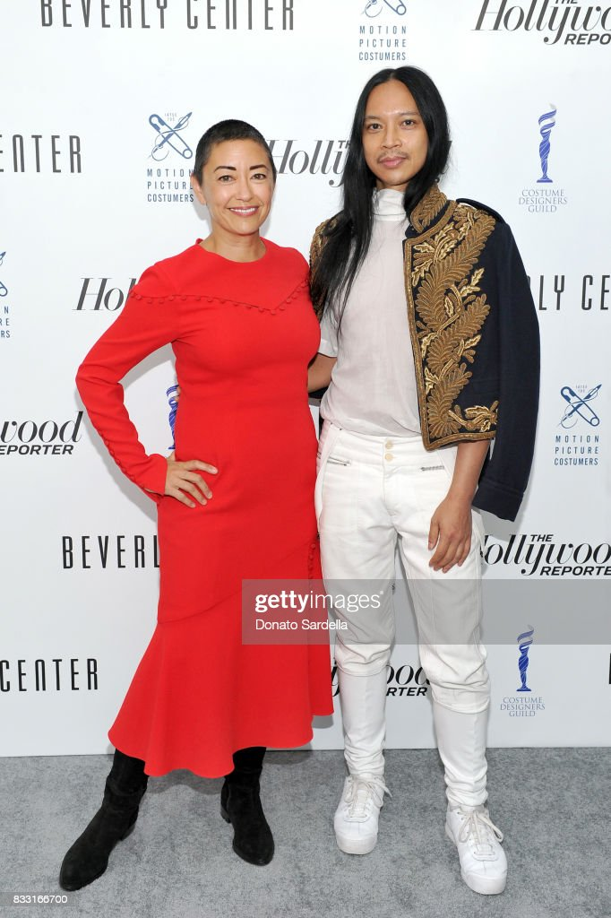 Emmy-nominated 'The Handmaid's Tale' costume designer, Ane Crabtree (L) and Emmy-nominated 'Rupaul's Drag Race' costume designer, Zaldy Goco attend Beverly Center and The Hollywood Reporter's Candidly Costume event at Beverly Center on August 16, 2017 in Los Angeles, California.