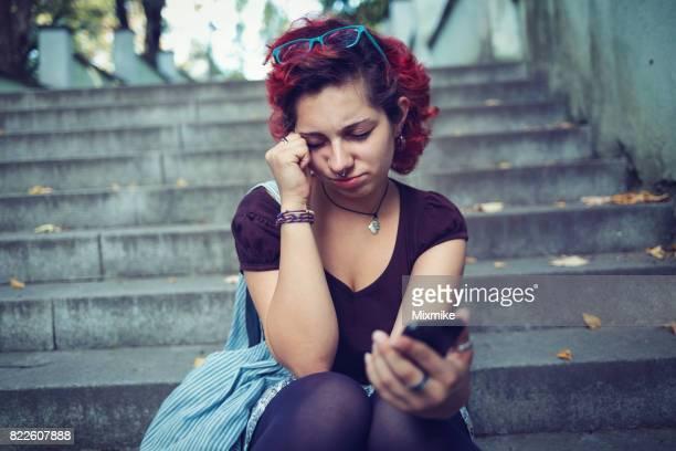 Emo girl feeling depressed