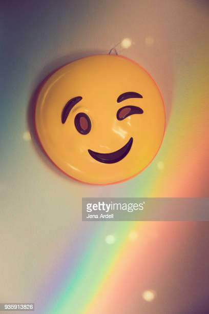 Emoji Wink Face Winking Face With Rainbow