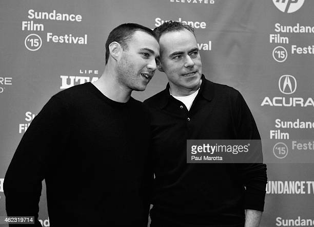 Emory Cohen and John Crowley attend the Brooklyn premiere during the 2015 Sundance Film Festival on January 26 2015 in Park City Utah
