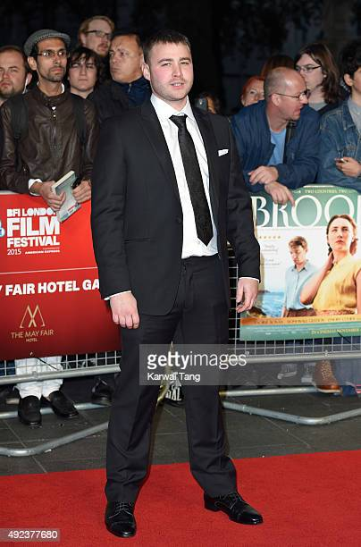 Emory Cohen attends a screening of Brooklyn during the BFI London Film Festival at Odeon Leicester Square on October 12 2015 in London England