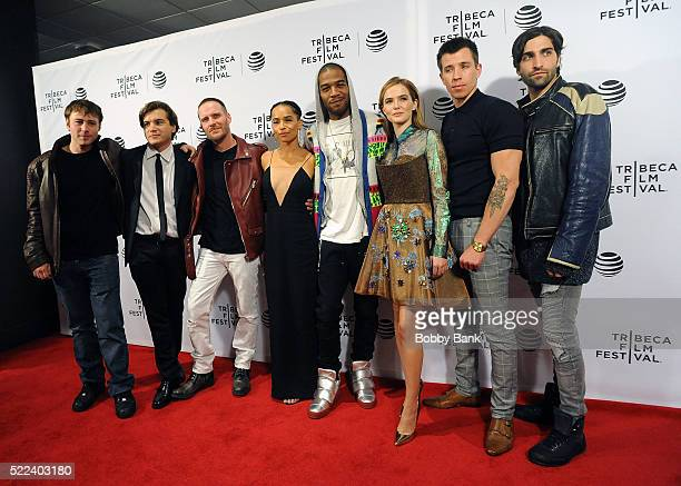 Emory Cohen Emile Hirsch Gary Michael Schultz Zoe Kravitz Kid Cudi Zoey Deutch and Beau Kanpp attend the Vincent N Roxxy Premiere at the 2016 Tribeca...