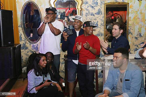 Emory Jones Lenny S and Tyran 'Ty Ty' Smith attend The ROMANS Sessions at The Box on May 5 2015 in New York City