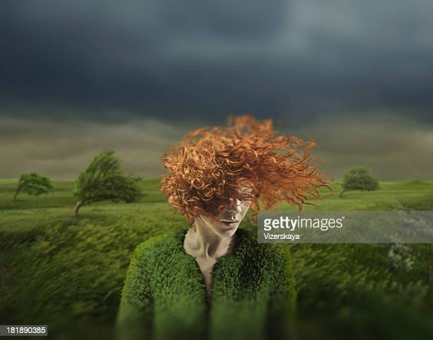 emotion - dyed red hair stock pictures, royalty-free photos & images
