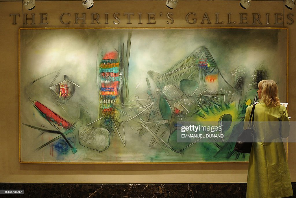 'Emotional Flora' by Matta is on display during a preview of Christie's Latin American Art auctions, May 24, 2010 in New York. Christie's will hold its Latin American Art auctions on May 26 and 27, 2010. AFP PHOTO/Emmanuel Dunand