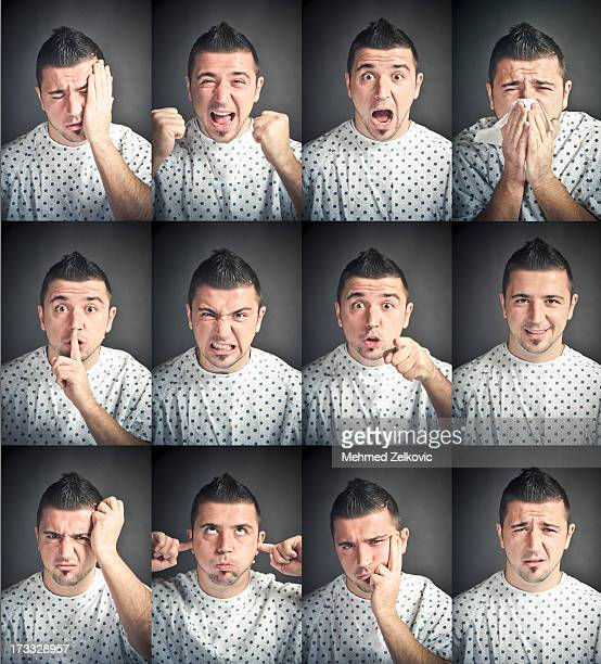 Emotional states of young male patient