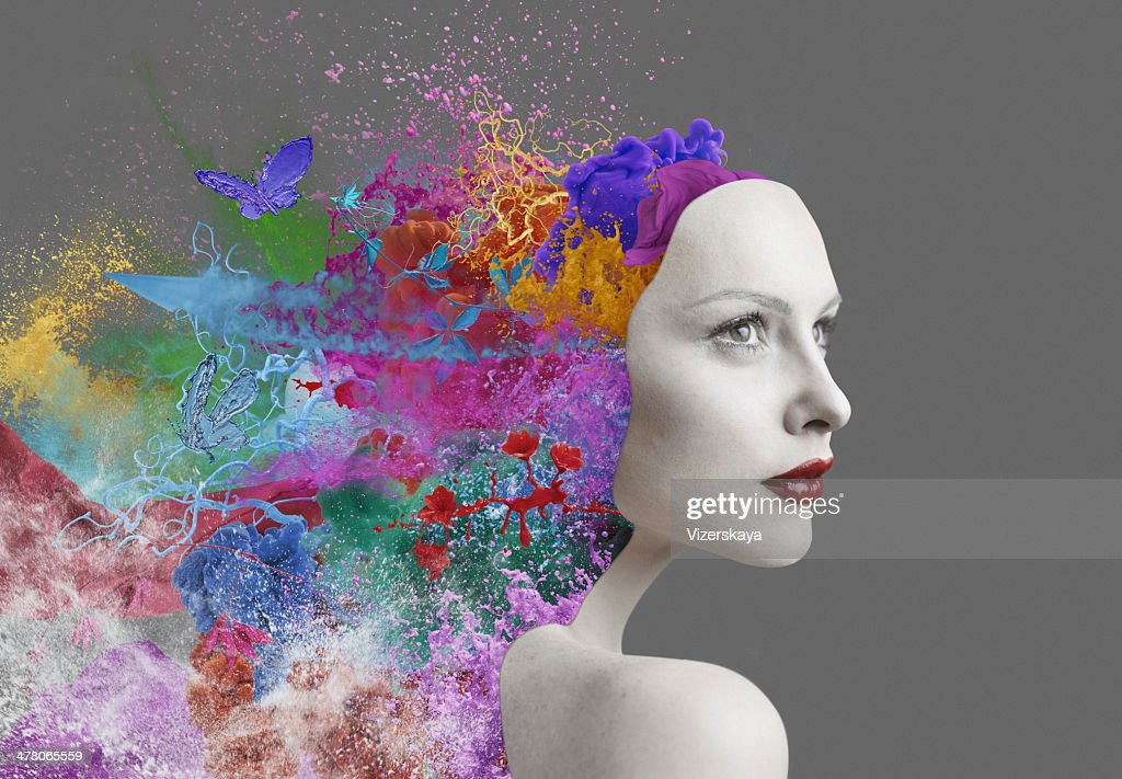 emotions inside human : Stock Photo