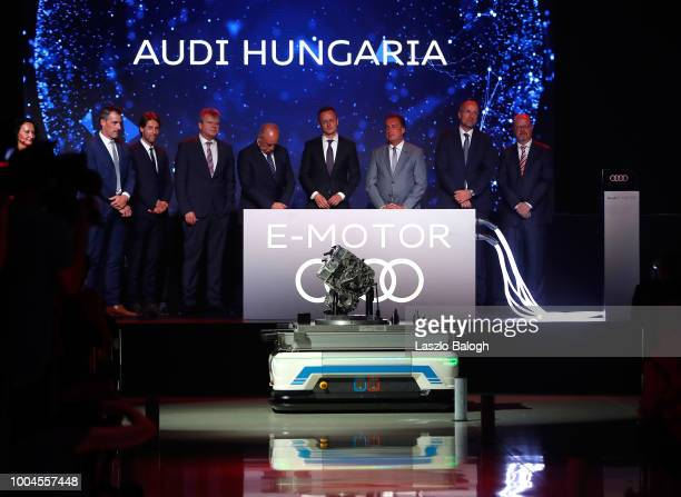 Emotor seen during the ceremony during the launch ceremony to start serial production of the Audi electric engines at the Audi factory on July 24...