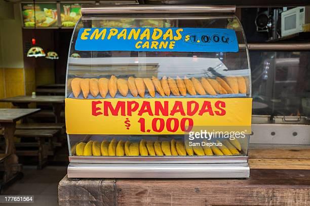 empanada stand, bogota colombia - empanada stock pictures, royalty-free photos & images
