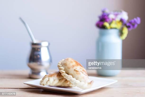 Empanadas 'Pie' Argentas with mate