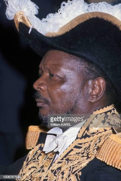 L'empereur JeanBedel Bokassa en costume de Napoléon circa 1970 en République centrafricaine
