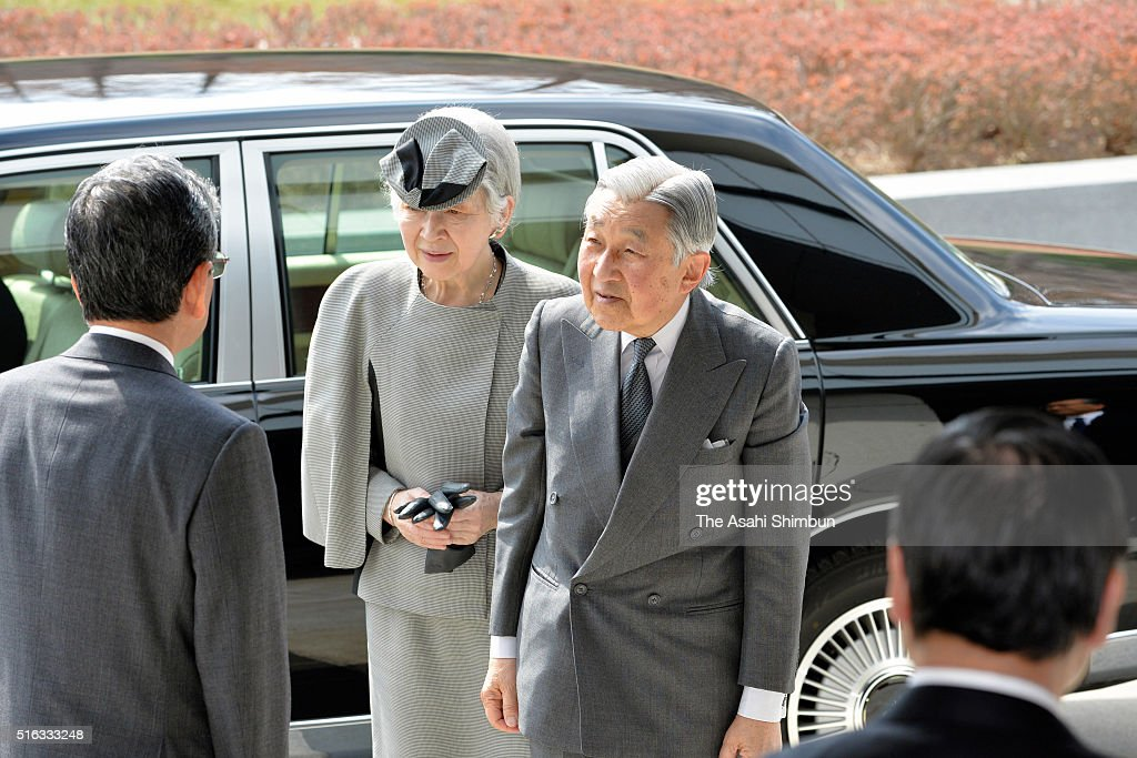 Emperor And Empress Visit Fukushima And Miyagi - Day 3 : News Photo