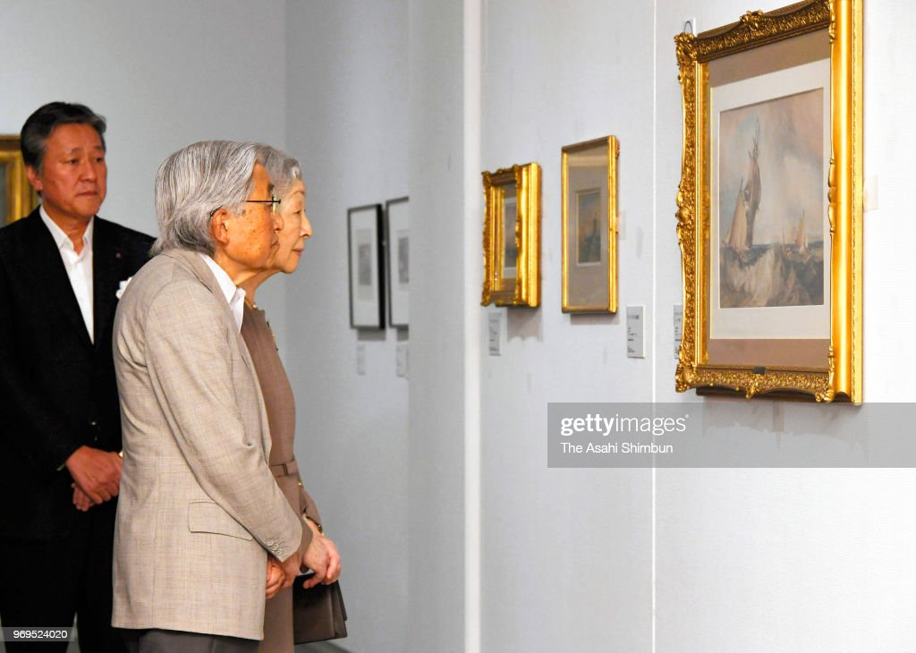 Emperor And Empress Visit Turner Exhibition