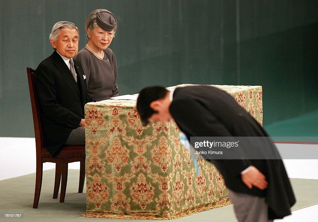 Japanese Remember WWII Dead On Anniversary Of Surrender : ニュース写真