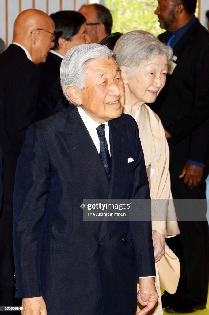 Emperor Akihito Hosts Tea Party