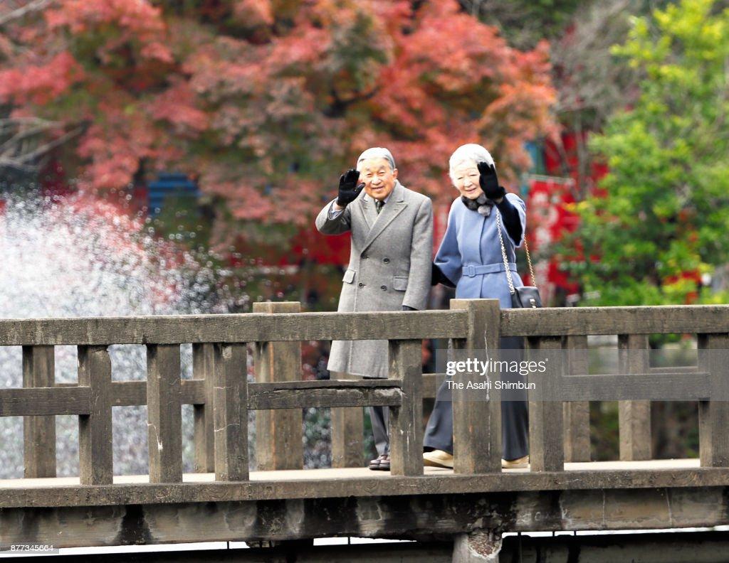 Emperor And Empress Visit Inokashira Park