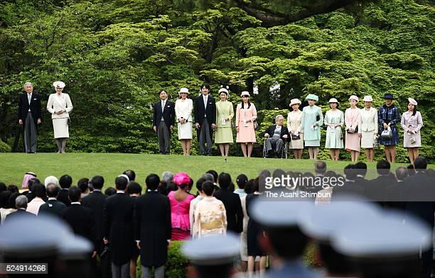 Emperor Akihito Empress Michiko Crown Prince Naruhito Crown Princess Masako Prince Akishino Princess Kiko Princess Mako Prince Hitachi Princess...