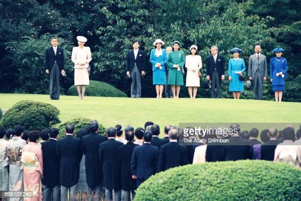Emperor Akihito Empress Michiko Crown Prince Naruhito Crown Princess Masako Princess Kiko of Akishino Princess Sayako Prince Hitachi Princess Hanako...