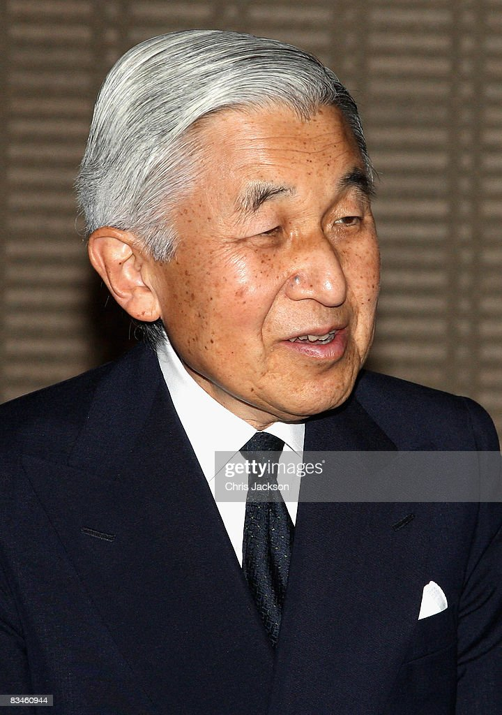Emperor Akihito is seen at the Imperial Palace on October 28, 2008 in Tokyo, Japan. Prince Charles, Prince of Wales and Camilla, Duchess of Cornwall are in Japan as part of a ten day tour of East Asia that takes in Japan, Brunei and Indonesia.