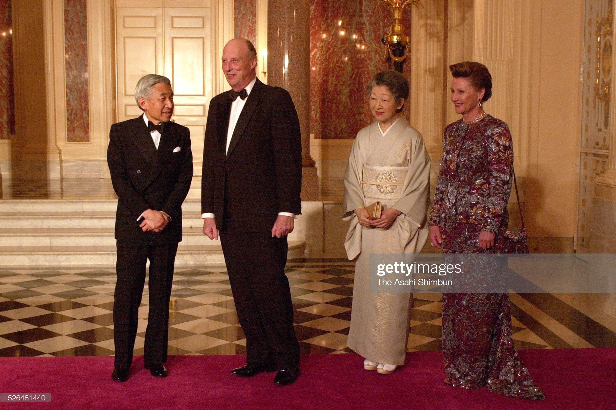 King Harald V of Norway Visits Japan : News Photo