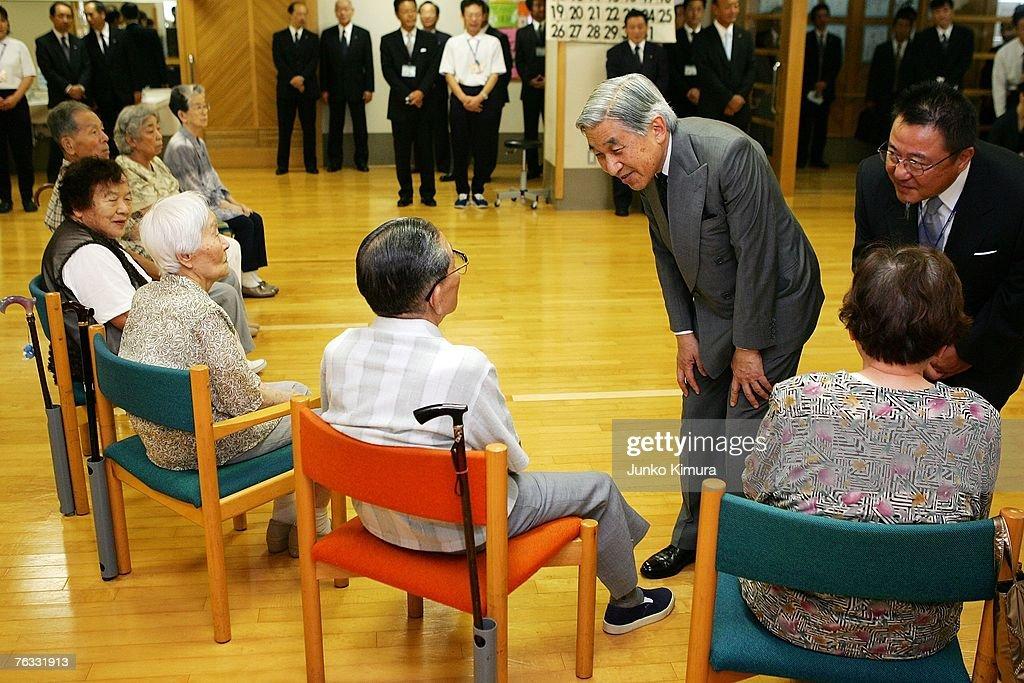 Emperor Akihito And Empress Michiko Visit Osaka : News Photo