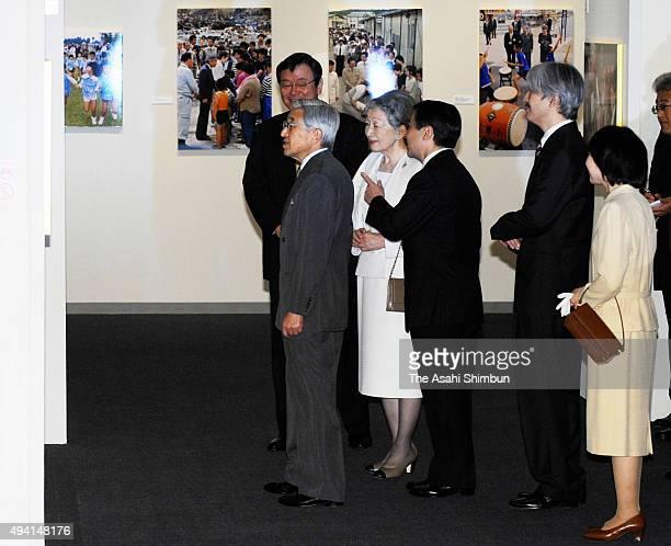 Emperor Akihoto Empress Michiko Crown Prince Naruhito Prince Akishino and Sayako Kuroda attend the 'Empress And Her Children' Photo Exhibition at...