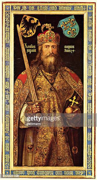 Emperor Charlemagne King of the Franks whose conquests formed the basis of the Holy Roman Empire Painting By Albrecht Durer ca 1512