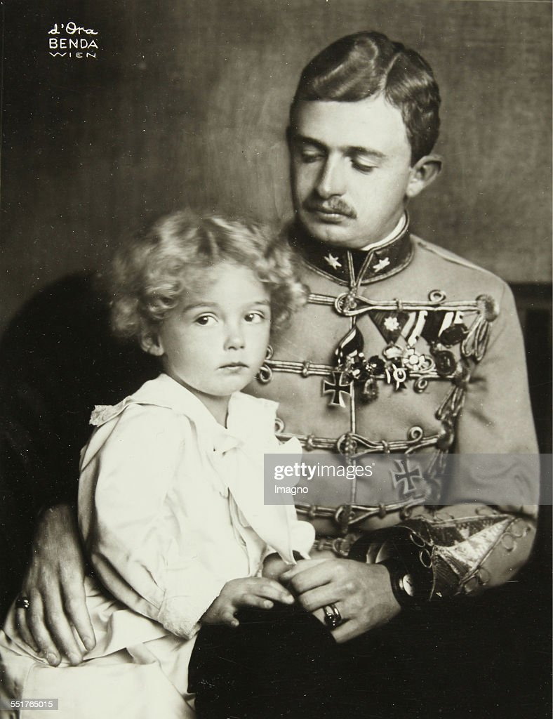 Emperor Charles I And His Son Crown Prince Otto : News Photo