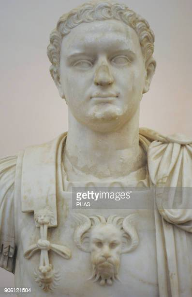 Emperor Domitian Flavian Dynasty Modern bust by the Italian sculptor Guglielmo della Porta National Archaeological Museum Naples Italy