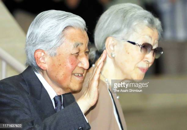 Emperor Emeritus Akihito and Empress Emerita Michiko are seen at a music concert at the Suntory Hall on September 1, 2019 in Tokyo, Japan.