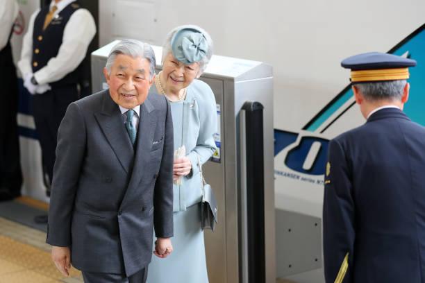JPN: Emperor Emeritus And Empress Emerita Visit Kyoto - Day 1