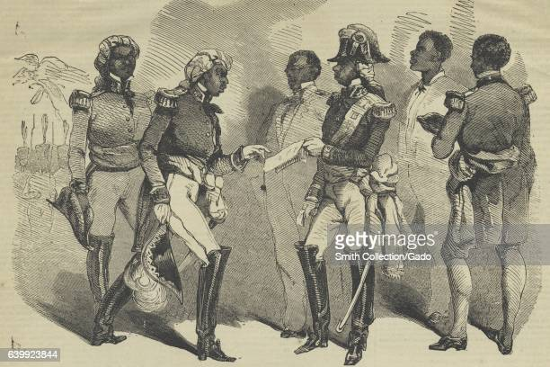 Emperor Faustin Soulouque of Haiti and his cabinet members 1859 From the New York Public Library
