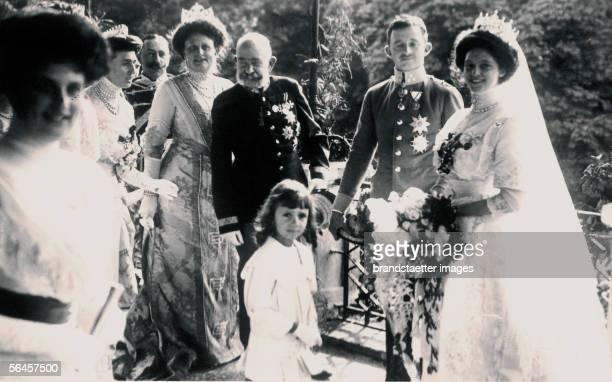 Emperor Francis Joseph I. Of Austria : The Emperor at the wedding of archduke Carl Francis Joseph with princess Zita of Bourbon-Parma in the Castle...