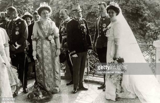 Emperor Francis Joseph I, of Austria : The Emperor at the wedding of archduke Carl Francis Joseph with princess Zita of Bourbon-Parma in the Castle...