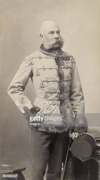 Emperor Franz Joseph I in hungarian uniform. Photography. Around 1888. [Kaiser Franz Joseph I in ungarischer Uniform. Photographie. Um 1888.]