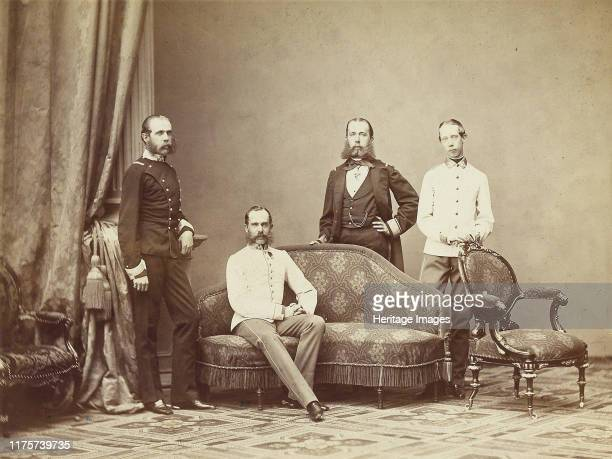 Emperor Franz Joseph I of Austria with his brothers, 1864. Private Collection. Artist Anonymous.
