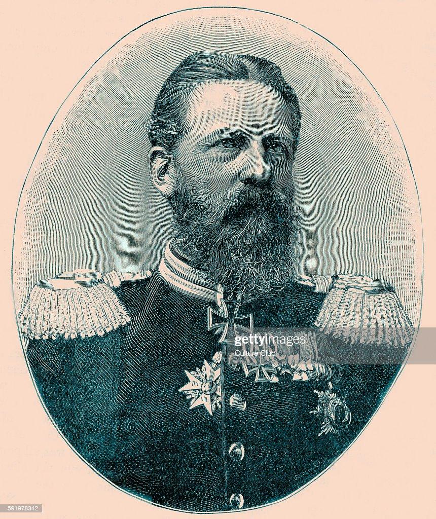 Emperor Frederick III / Friedrich Wilhelm Nikolaus Karl / Fritz (8 October 1831 - 15 June 1888) : News Photo