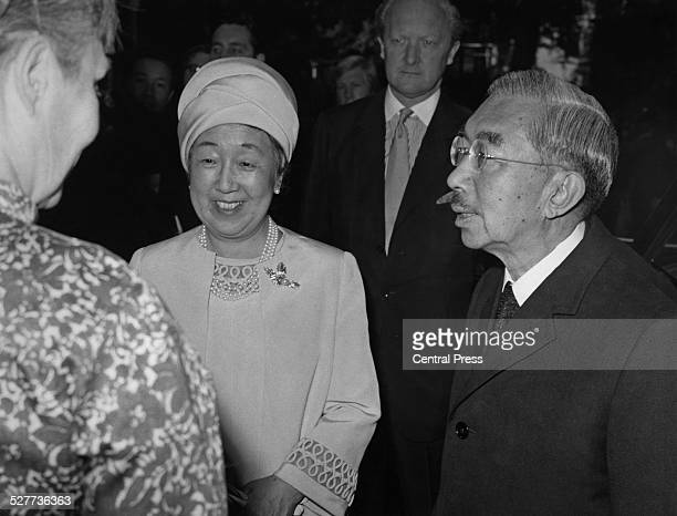 Emperor Hirohito and Empress Nagako of Japan visit the Royal Society in Carlton House Terrace, during of a three-day visit to London, 6th October...