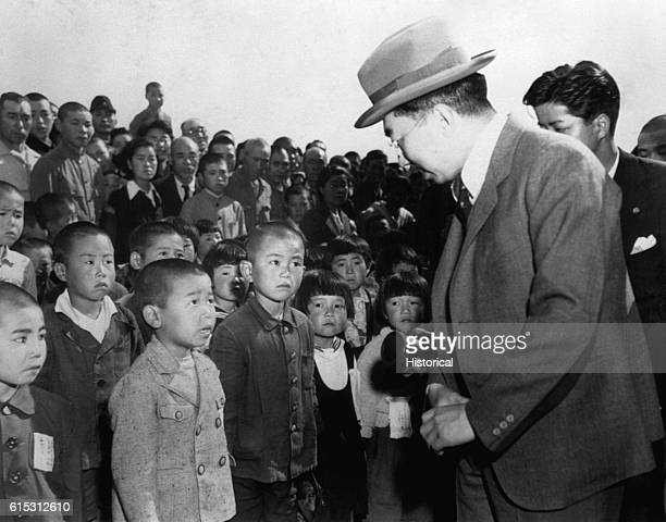 Emperor Hirohito meets a group of Japanese schoolchildren during an unprecendented public appearance in 1946 The emperors of Japan were for centuries...