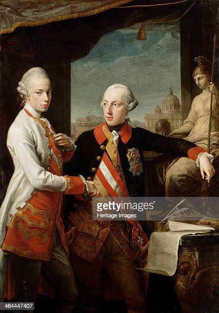 Emperor Joseph II with Grand Duke Pietro Leopoldo of Tuscany 1769 Found in the collection of the Art History Museum Vienne