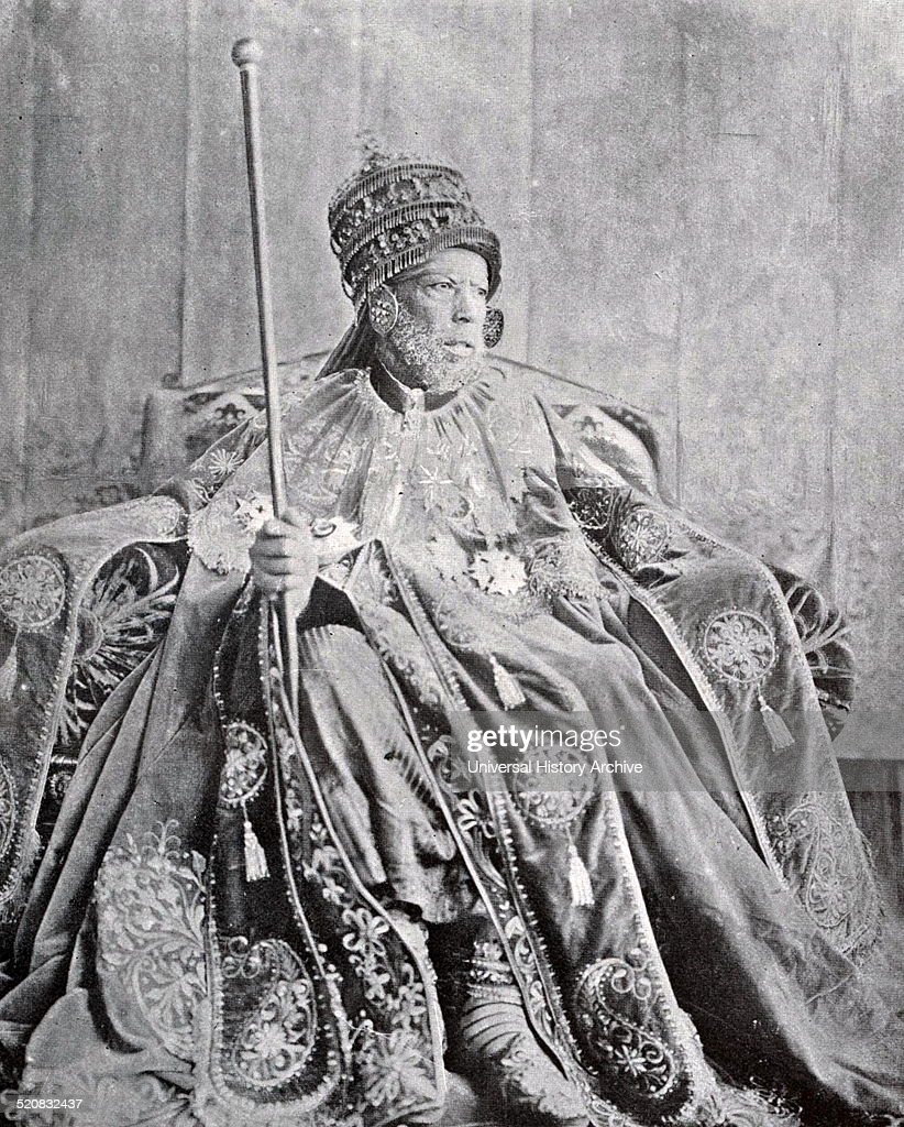 Emperor Menelik II. : News Photo