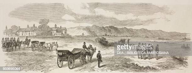 Emperor Napoleon III and staff reconnoitring, France, Franco-Prussian War, illustration from the magazine The Illustrated London News, volume LVII,...