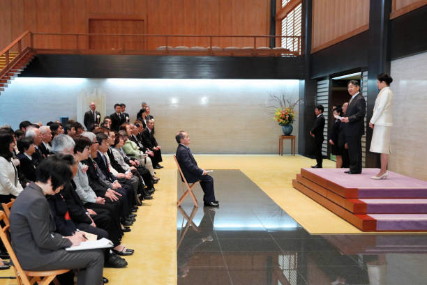 JPN: Emperor And Empress Meet Deaflympic Participants