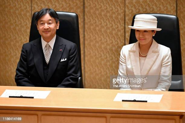 Emperor Naruhito and Empress Masako attend the Japan Academy Award Ceremony on June 17, 2019 in Tokyo, Japan.