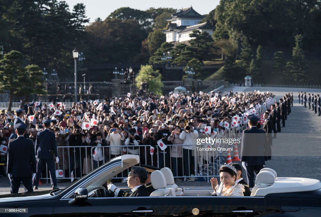 Imperial Parade For Enthronement of Naruhito In Tokyo : News Photo