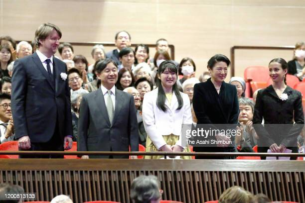 Emperor Naruhito, Empress Masako and Princess Aiko attend the 'Cats' Charity Premiere with film director Tom Hooper and actor Francesca Hayward on...