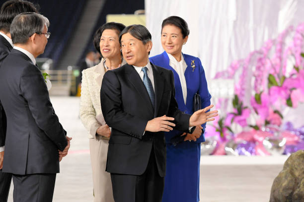 JPN: Emperor And Empress Attend International Orchid And Flower Show