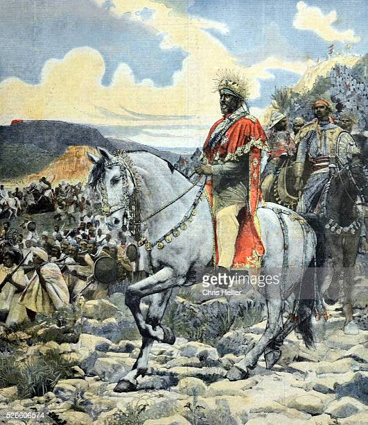 Emperor Negus Menelik II of Ethiopia at Battle of Adwa 1896 Ethiopia