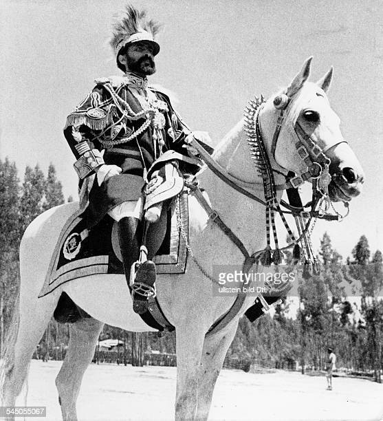 HAILE SELASSIE Emperor of Ethiopia 19301974 Photographed during a parade 1934