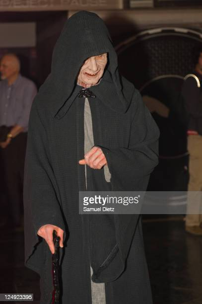 Emperor Palpatine at the Star Wars Saga release party at Virgin Megastore Champs-Elysees on September 13, 2011 in Paris, France.